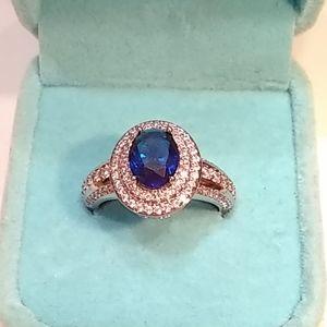 🆕 Beautiful blue & white sapphire ring 💍